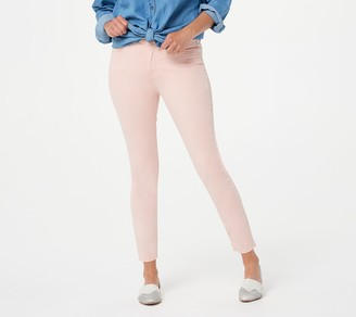 JEN7 by 7 For All Mankind Jen7 for 7 for All Mankind Sateen Ankle Skinny Jeans - Rose