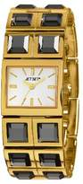 Jet Set J 43608-712-Beverly Hills Women's Watch Analogue Quartz White Dial Steel Bracelet-Gold