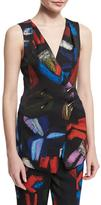 Armani Collezioni Double-Breasted Printed Envers Vest