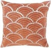 BiniChic Terracotta Fishscale Decorative Pillow - Brown - 16 x 16