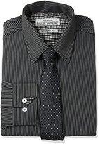 Nick Graham Everywhere Men's Stripe Dress Shirt with Tie