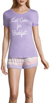 Asstd National Brand Shorts Pajama Set-Juniors