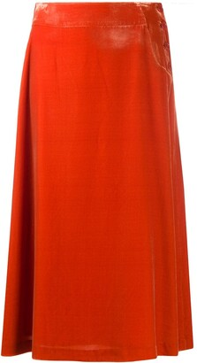 Aspesi Mid-Length Velvet Skirt