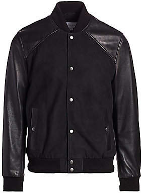 Nominee Men's Leather & Suede Bomber Jacket