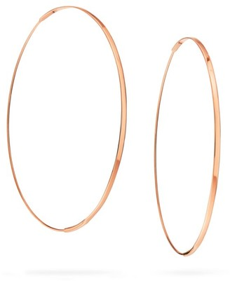 Lana Large Flat Magic 14K Rose Gold Hoop Earrings/2.5""