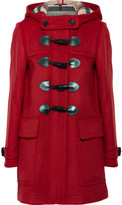 Burberry Hooded Wool-felt Duffle Coat - Red
