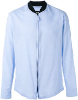Giorgio Armani band collar zipped shirt - men - Cotton - 41