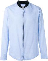 Giorgio Armani band collar zipped shirt - men - Cotton - 43