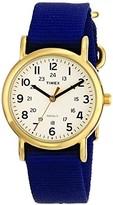 Timex Weekender Slip Thru Mid Size Blue Strap Watch