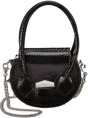 Salar Milano Mimi Snake-Embossed Leather Shoulder Bag