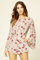 Forever 21 Contemporary Floral Romper