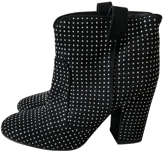 Laurence Dacade Black Glitter Ankle boots