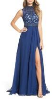 Mac Duggal Women's Beaded Lace & Chiffon Gown