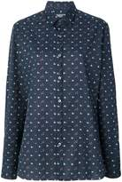 Lanvin clubs, hearts and spades print shirt
