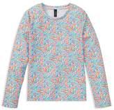 Polo Ralph Lauren Girls' Floral-Print Rash Guard - Big Kid