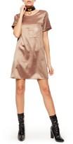 Missguided Women's Satin Pocket T-Shirt Dress
