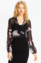 Diane von Furstenberg Print Silk Blouse
