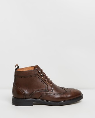Double Oak Mills Holland Leather Brogue Boots