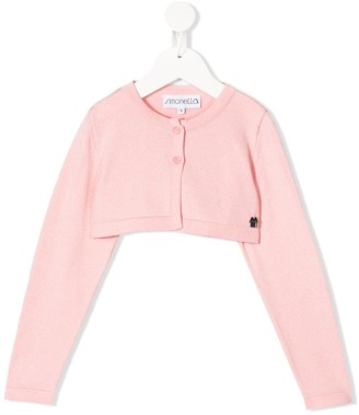 Simonetta Cropped Long-Sleeve Cardigan