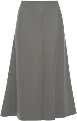 The Row Bea Flared Wool-twill Midi Skirt