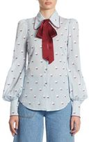 Marc Jacobs Embroidered Button Front Blouse