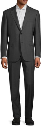 Canali Standard-Fit Textured Wool Suit