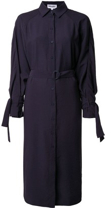 Kenzo Belted Shirt Dress With Cape Detail