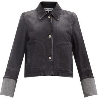 Loewe Cropped Denim Jacket - Black