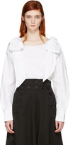 Chloé White Bow Blouse