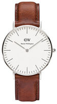 Daniel Wellington Classic St Mawes Stainless Steel and Leather Strap Watch, 36mm
