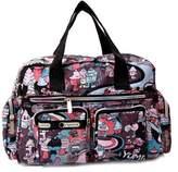 SODIAL(R) Women casual fashion print waterproof nylon bag shoulder messenger bag handbags women's size 31 * 22 * 11.5 cm Style 3