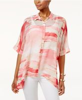 JM Collection Petite Printed Dolman-Sleeve Blouse, Only at Macy's
