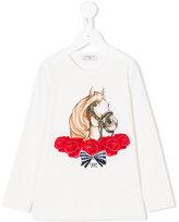 MonnaLisa horse printed top