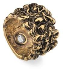 Gucci Engraved Lion Mane Metal Ring