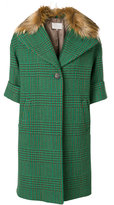 L'Autre Chose check buttoned coat