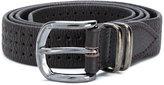 Eleventy holes detail belt - men - Leather - 85