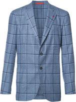 Isaia checked blazer - men - Silk/Cupro/Wool - 52
