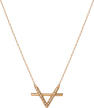 AUrate New York Icon Necklace with Diamonds