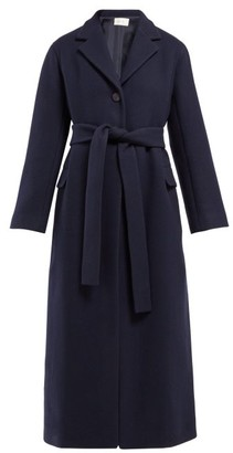 The Row Amoy Single-breasted Belted Cashmere Coat - Womens - Navy