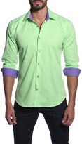 Jared Lang Long Sleeve Striped Semi-Fitted Shirt