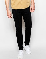 Cheap Monday Cord Trousers Tight Skinny Fit Tribe Black