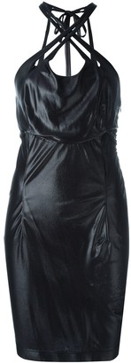 Krizia Pre Owned Criss-Cross Stretch Dress