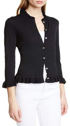 Ted Baker Treesa Ruffled Button Front Cardigan