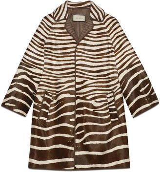 Gucci Zebra print calf hair coat