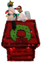 Asstd National Brand 26 Pre-Lit Peanuts 3-D Snoopy On Dog House With Star Yard Art with Clear Lights