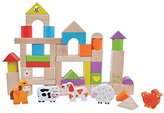 Childrens Wooden Toy Stacking and Building Blocks Farm Animals 50pcs by jumini ? by jumini