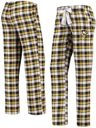 Women's Concepts Sport Black/Gold Pittsburgh Penguins Piedmont Flannel Pants