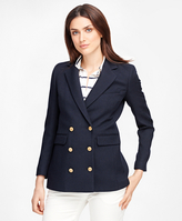 Brooks Brothers Wool Double-Breasted Blazer
