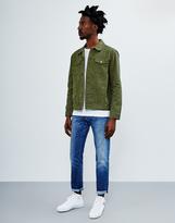 The Idle Man Denim Jacket Green