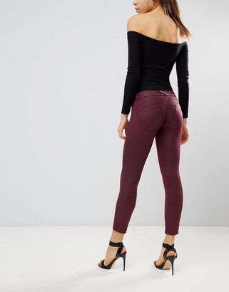 Freddy WR.UP Mid Rise Shaping Effect Coated Crop Biker Jean